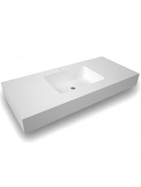 Encimera de baño solid surface 1 seno centrado