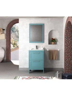 Mueble de baño Trent azul océano