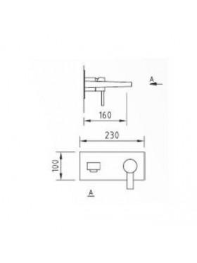 Ficha técnica de Grifo lavabo Empotrado Artic Xtreme Clever