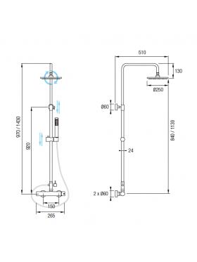 Ficha técnica conjunto de ducha Formentera