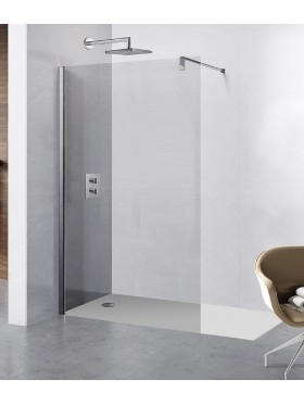 Mampara de ducha hoja fija de acero inoxidable