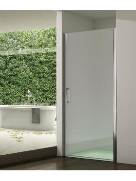 Mampara de ducha puerta abatible acero inox