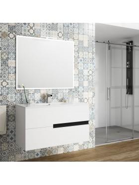 Mueble de baño suspendido Mitreo Conjunto de 100 cm