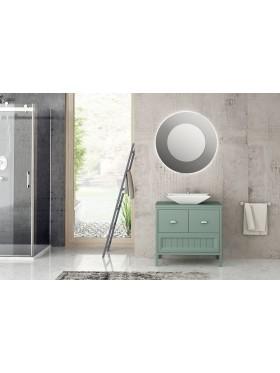 Mueble de baño con patas Alma Verde Piedra 80 cm