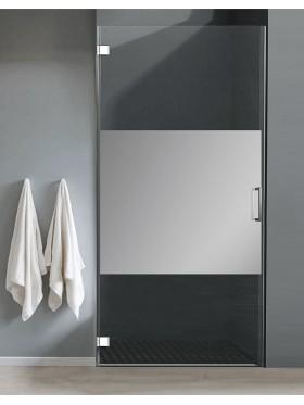 Mampara de ducha puerta abatible acero F1