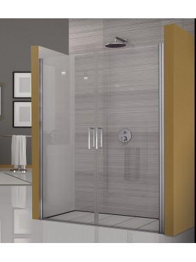 Mampara de ducha abatible acero inox G2