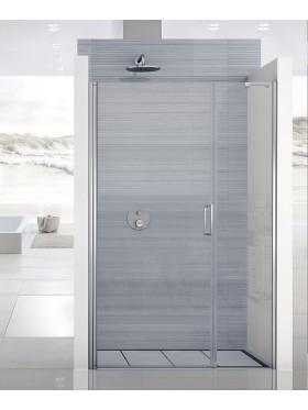 Mampara de ducha abatible acero inox G2F