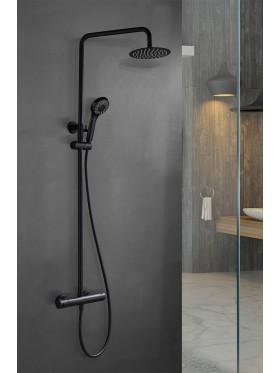 Conjunto de ducha Kent negro
