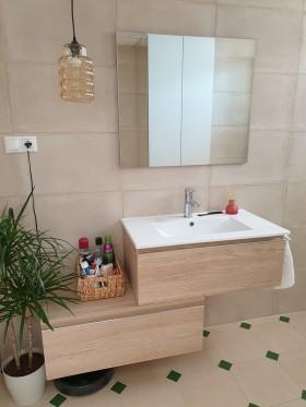 Mueble de baño Toscana acabado bambu