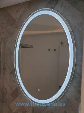 Espejo de baño LED Oval