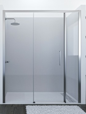 Mampara de ducha frontal corredera Tebe