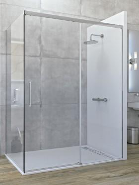 Mampara de ducha angular corredera con fijo lateral