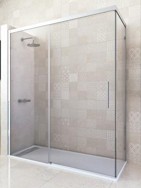 Mampara de ducha angular corredera Tereza