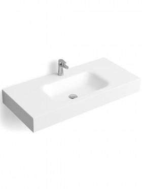 Encimera de baño solid surface con faldón