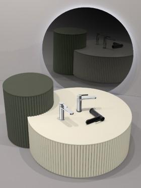 Grifo de lavabo Turia negro II