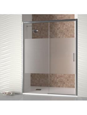 Mampara de ducha con decorado Noise