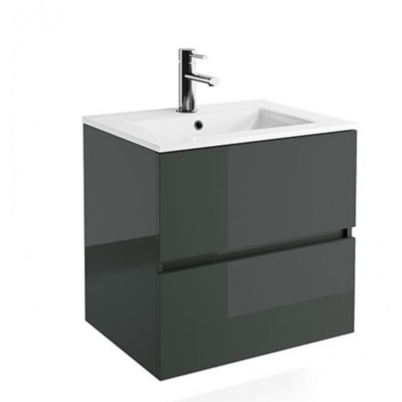 Mueble de Baño Compact Gris Brillo
