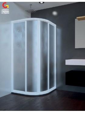 Mampara de ducha semicircular acrílica