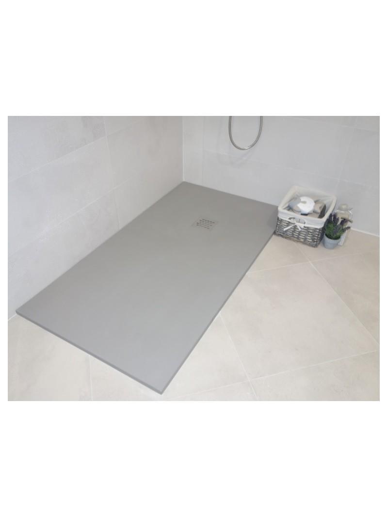 Plato de ducha de carga mineral textura liso for Cortar plato de ducha de resina