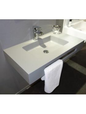 Lavabo Encimera Florencia acabado gris claro