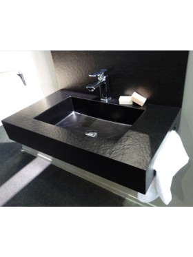 Lavabo Encimera Florencia acabado negro