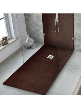 Plato de ducha textura madera