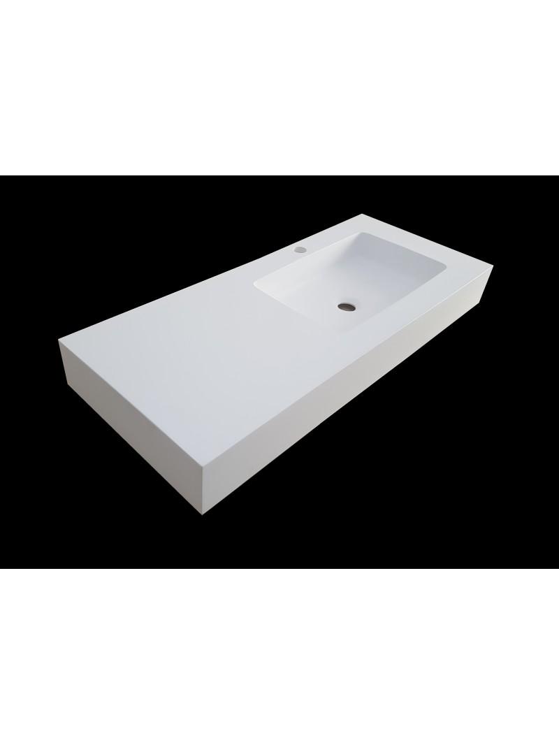 Encimera de ba o solid surface for Encimera de concreto encerado bano