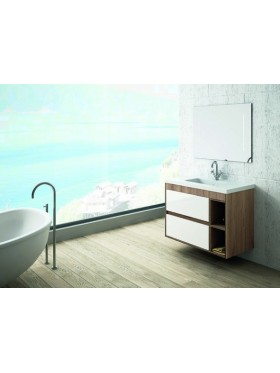 Mueble Flori nogal + blanco 80cm