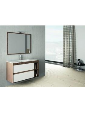 Mueble Flori blanco + nogal 100cm
