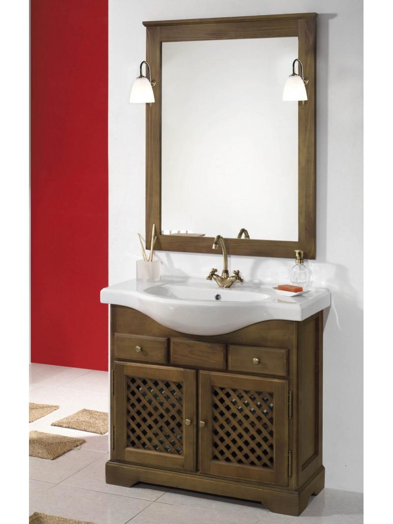 Mueble de ba o rustico monfrag e for Mueble bano rustico blanco