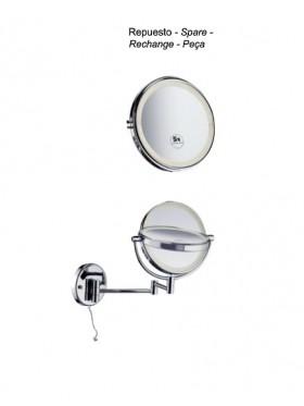 Espejo aumento 5x y LED