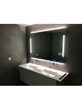 Espejo de baño iluminado Frontout