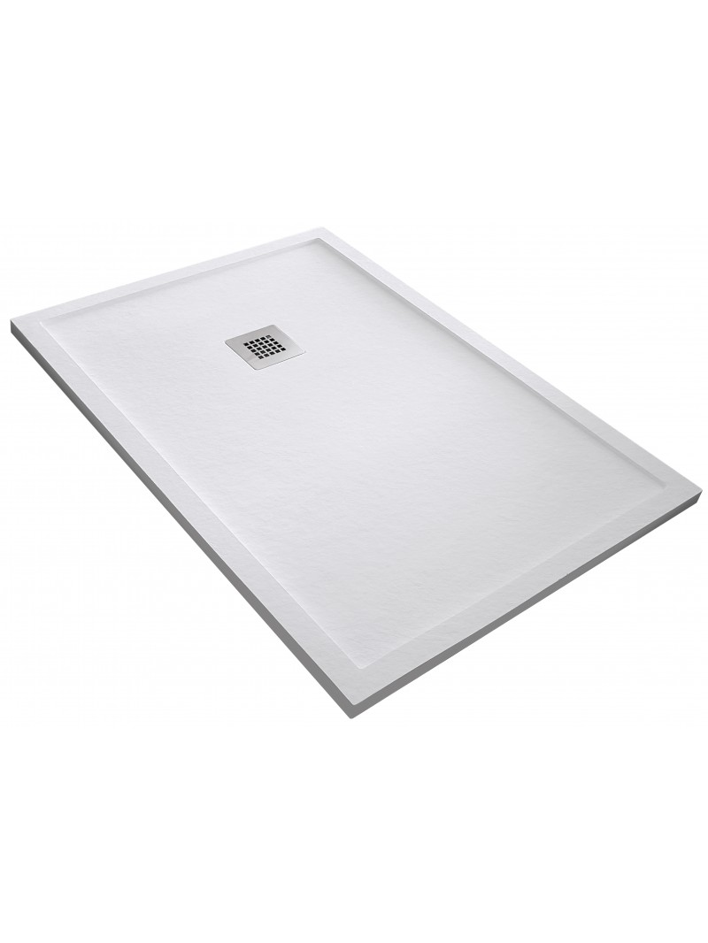 Plato de ducha de resina pizarra con marco for Cortar plato de ducha de resina