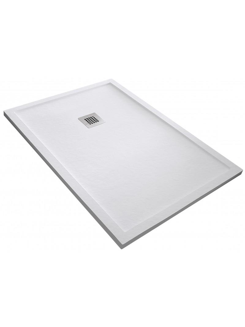 Plato de ducha de resina pizarra con marco for Instalar plato ducha resina
