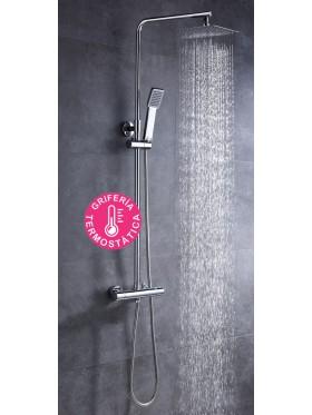 Conjunto de ducha termostático Quad