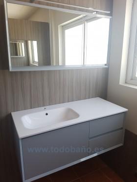Mueble de baño Tebas IV acabado perla