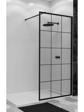 Mampara de ducha cristal fijo Arcoiris Black