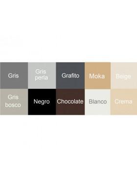 Muestrario de colores disponibles