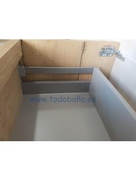 Detalle de las guías y el  interior del cajón