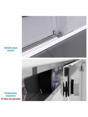 detalle de los componentes de la mampara
