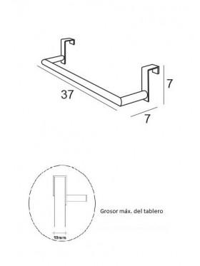 Toallero barra
