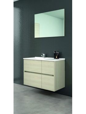 Mueble de baño Rueda en acabado taiga