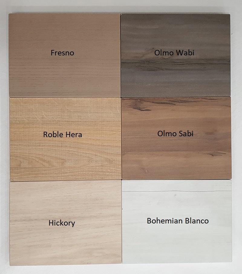 acabados en madera disponibles