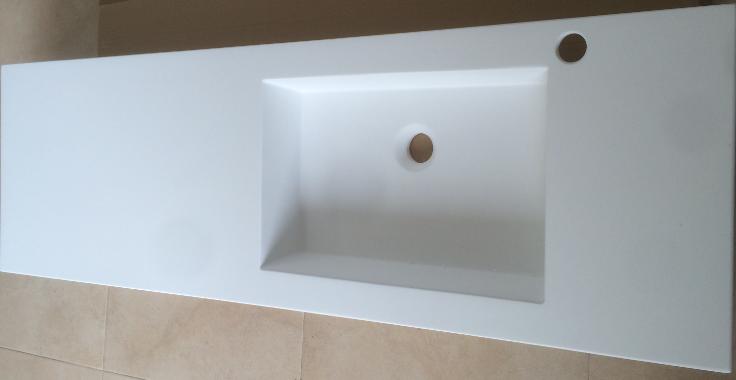 lavabo a medida en solid surface