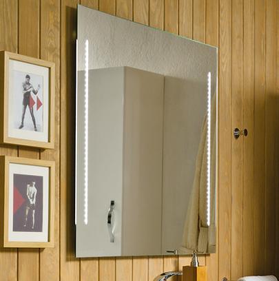Espejos de ba o iluminados con luz led incorporada todoba o - Espejos retroiluminados bano ...